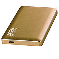 Внешний корпус для HDD AgeStar 3UB2A16C SATA алюминий золотистый 2.5'