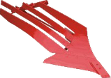 Плуг навесной оборотный Оптикон Мастер А6 5+1 корпусный с предплужниками и углоснимами, фото 5
