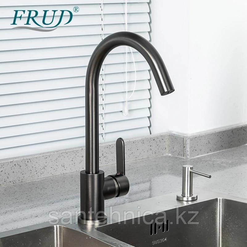 Смеситель для кухни Frud  R42052-11 серый космос
