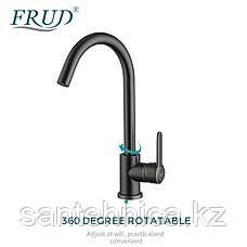 Смеситель для кухни Frud  R42052-11 серый космос, фото 2