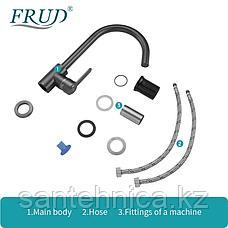 Смеситель для кухни Frud  R42052-11 серый космос, фото 3