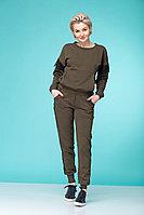 Женский летний трикотажный коричневый спортивный спортивный костюм HIT 3055 44р.