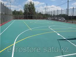 Тартановое покрытие баскетбольной площадки