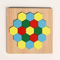 Головоломка «Строй фигуры и узоры», шестиугольники