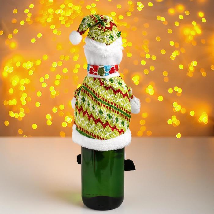 Одежда на бутылку «Снеговик» - фото 2