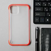 Чехол для iPhone 11, прозрачный, с окантовкой, красный