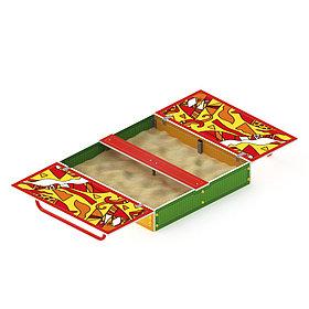 Песочница с крышкой ИО 5.01.11-04 (ИО 513)
