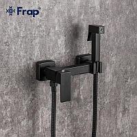 Смеситель с гигиеническим душем Frap F7504-6 черный