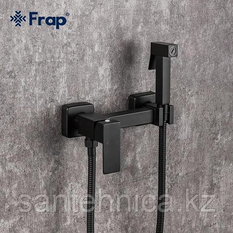 Смеситель с гигиеническим душем Frap F7504-6 черный, фото 2