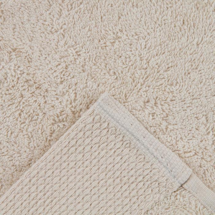 Полотенце махровое гладкокрашеное 30х60 см, бежевый, хлопок 100%, 480г/м2 - фото 3