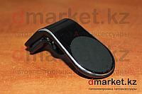 Держатель-магнит для телефона A-22, в воздуховод, черный, пластик