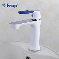 Смеситель для раковины Frap F1034 белый/хром