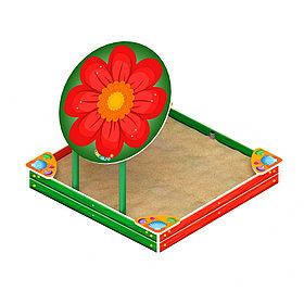 Песочница с навесом Забава - цветок ИО 5.01.08
