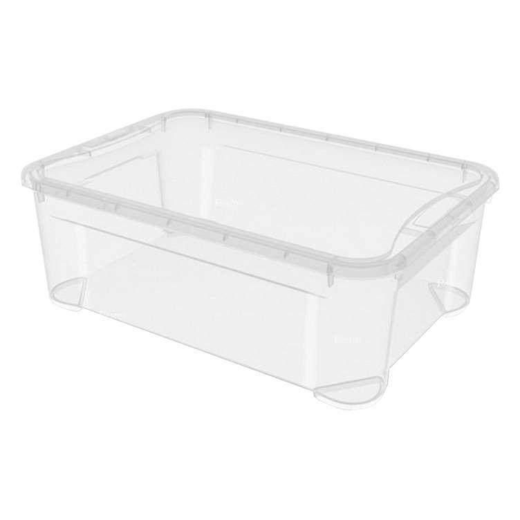 Ящик универсальный Restola 31 л с крышкой, 555х390х190, прозрачный - 7 шт/уп