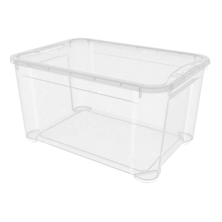 Ящик универсальный Restola 46 л с крышкой в комплекте, 555х390х290, прозрачный - 4 шт/уп