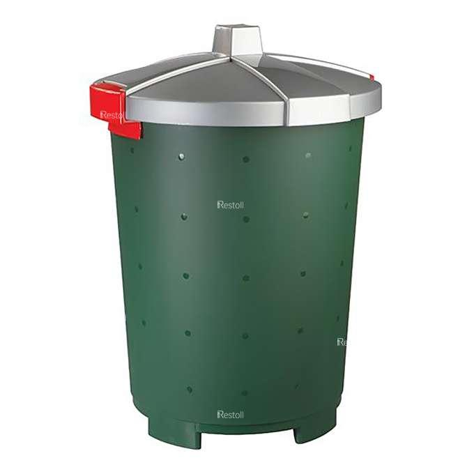 Бак для сбора отходов Restola 45 л, зелёный - 5 шт/уп