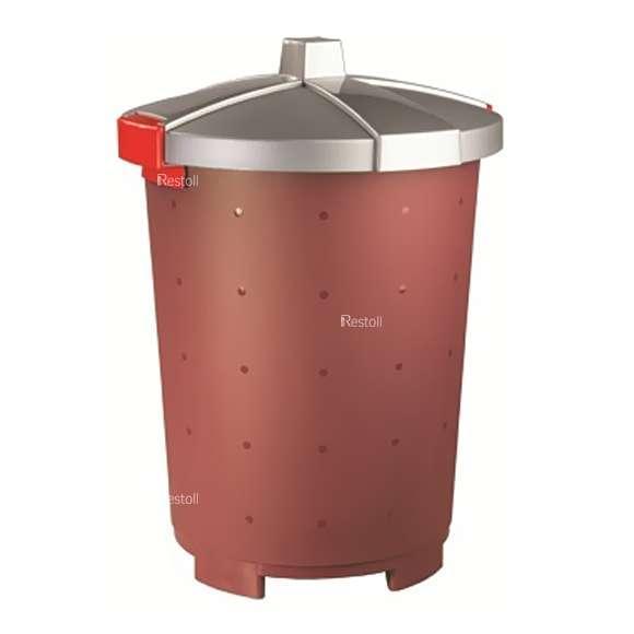 Бак для сбора отходов Restola 65 л, бордовый - 5 шт/уп