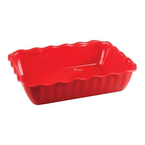 Салатник с волнистыми краями Restola 4 л (330х265х80), красный - 14 шт/уп