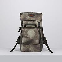 Рюкзак туристический, 40 л, отдел на молнии, 3 наружных кармана, цвет зелёный