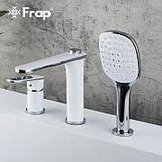 Смеситель на борт ванны Frap F1149 белый/хром