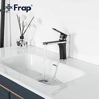 Смеситель для раковины Frap F1049-6 черный/хром
