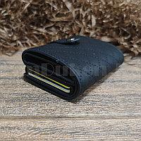 Картхолдер держатель для карт и визиток с RFID защитой экокожа KH-327 черный