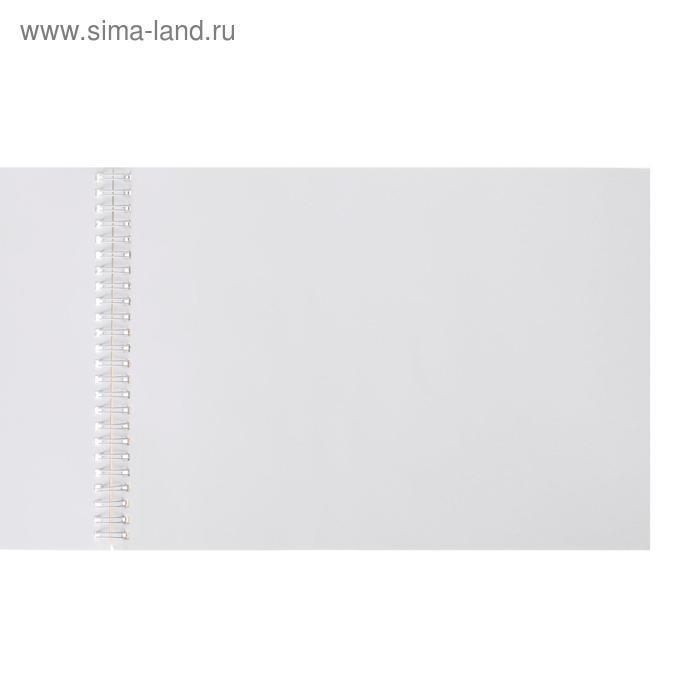 Альбом для рисования А4, 40 листов на гребне с перфорацией «Луч» Цветы, блок офсет 100 г/м2 - фото 2