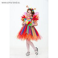 Карнавальный костюм «Бабочка радужная», сделай сам, корсет, ленты, брошки, аксессуары