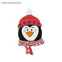 """Фольгированный шар 34"""" «Голова пингвина», фигура"""
