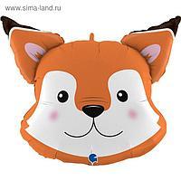 """Фольгированный шар 30"""" «Голова лисы», фигура"""
