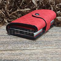 Картхолдер держатель для карт и визиток с RFID защитой экокожа KH-327 красный