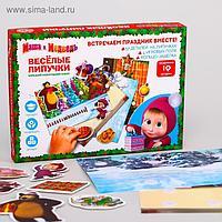 """Игра на липучках """"Веселого Нового года"""", Маша и Медведь"""