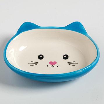 Миска керамическая для кошек Мордочка кошки