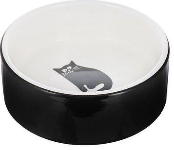 Миска керамическая Толстый кот