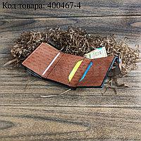 Картхолдер держатель для карт и визиток с RFID защитой экокожа KH-327 коричневый