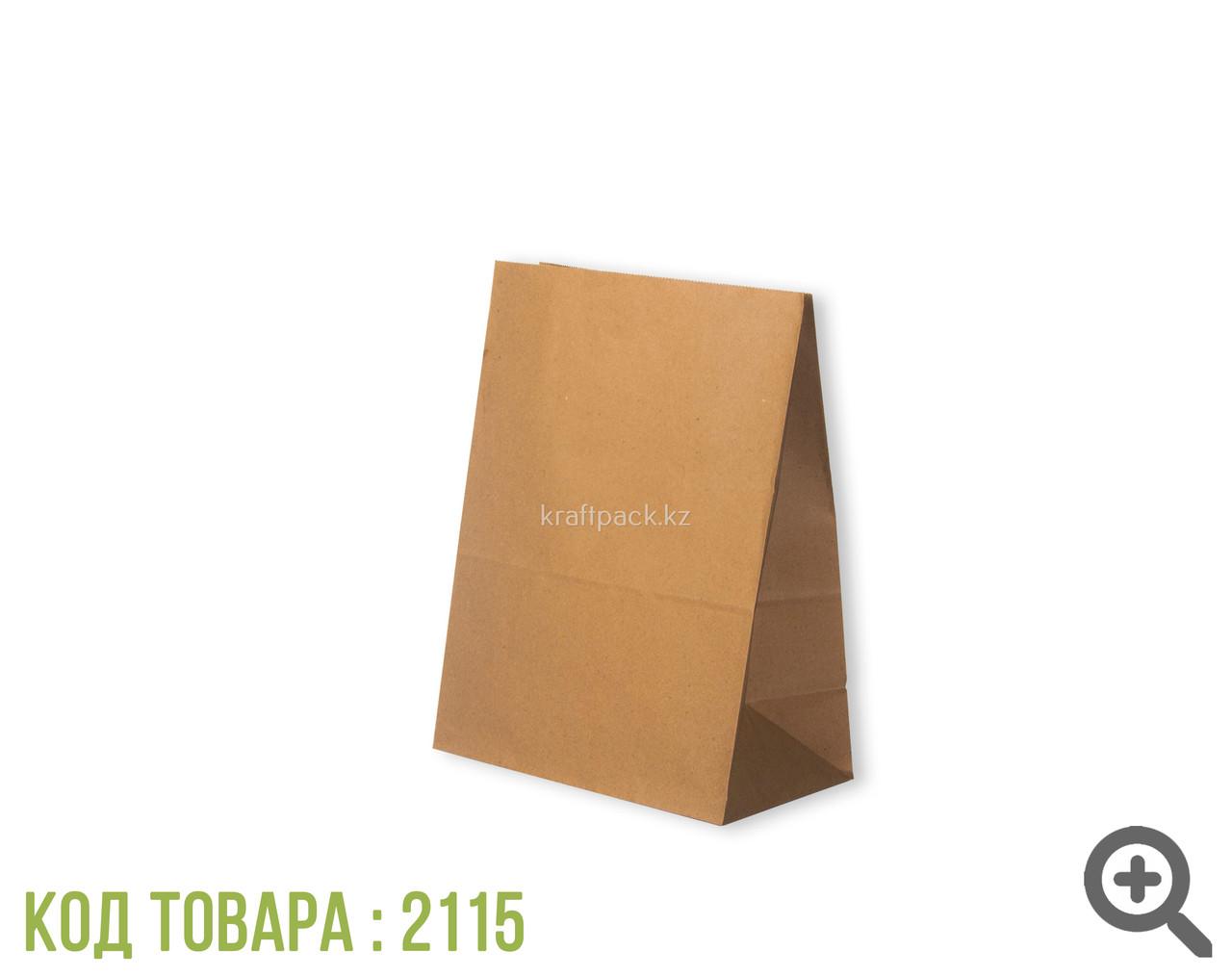 Пакет крафт 70гр, с прямоугольным дном 220*120*290 мм (700шт/уп)