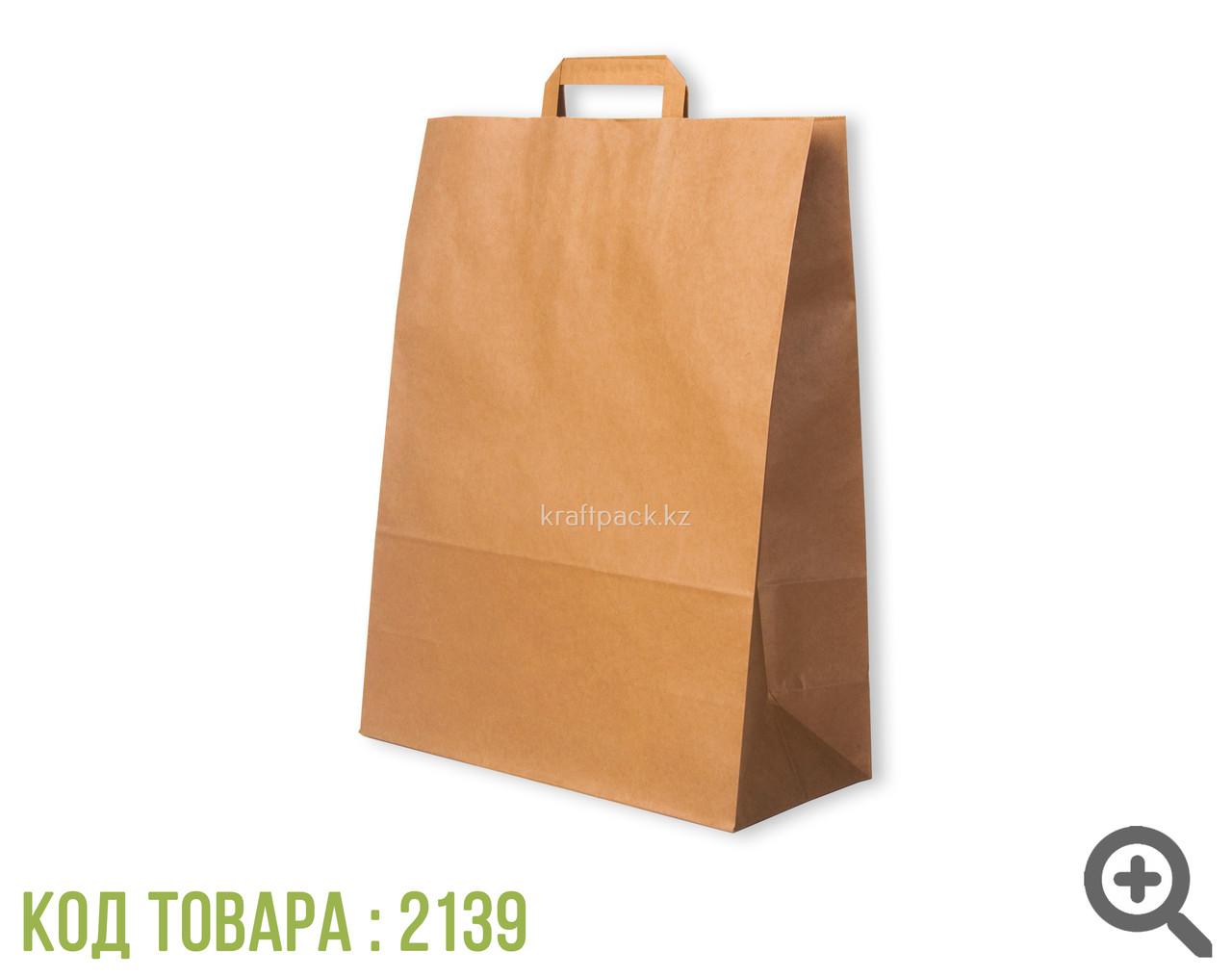 Пакет бумажный б/п с пл. ручкой 350*150*450 (300шт/уп)