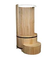 Круглая душевая кабина из кедра (диаметр 90 см)