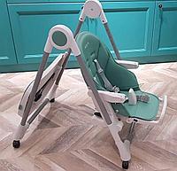 Стульчик для кормления Ivolia с колесами green