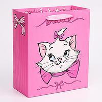 "Пакет ламинат вертикальный ""Marie"", Коты аристократы, 23х27х11,5 см 4628781"