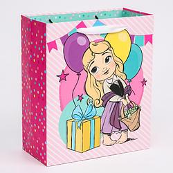"""Пакет ламинат вертикальный """"Принцессы"""", Принцессы, 23х27х11,5 см   4628805"""