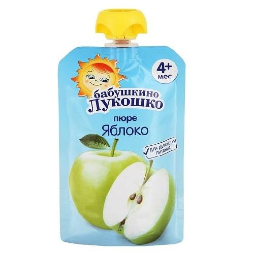 Бабушкино Лукошко Пауч яблоко с 4 мес. 90гр.