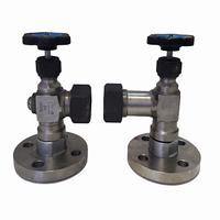 Запорное устройство вентильного типа указателя уровня фланцевое (с автоматическим шаровым затвором) стальное