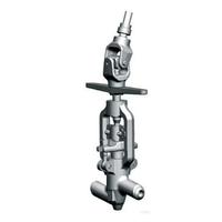 Клапан (вентиль) угловой с ручным управлением с шарнирной муфтой, с конической передачей стальной 13нж44бк ТУ
