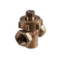 Кран пробковый с пружиной для газопроводов латунный 11Б12бк ГОСТ 21345-78