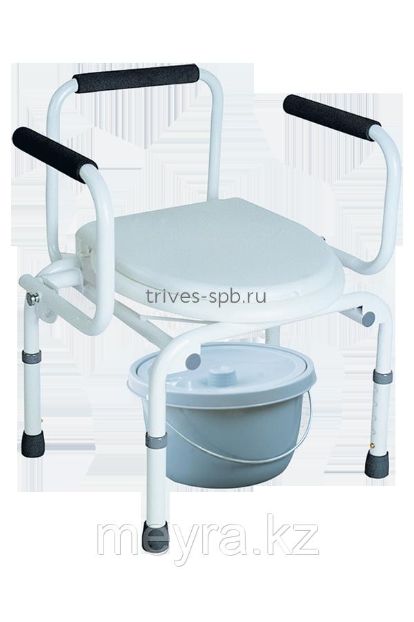 Кресло-туалет (с опускающимися подлокотниками) TRIVES (Россия)