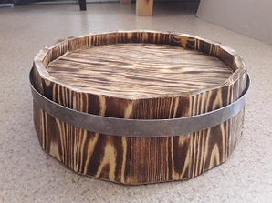 Срезы деревянных бочек