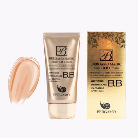 ББ – крем с улиточным муцином Bergamo Magic Snail BB Cream SPF 50+/PA+++,50мл, фото 2