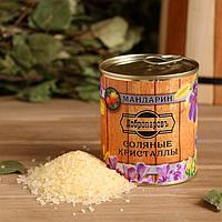 Соль для бани с ароматом мандарина в банке