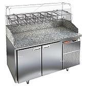 Стол холодильный для пиццы Hicold PZ3-11/GN (6xGN1/3) камень